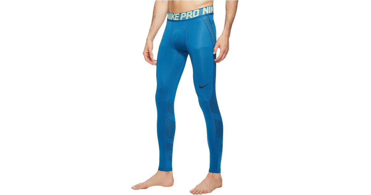 5080be73e7 Nike Pro Hypercool Training Tight in Blue for Men - Lyst