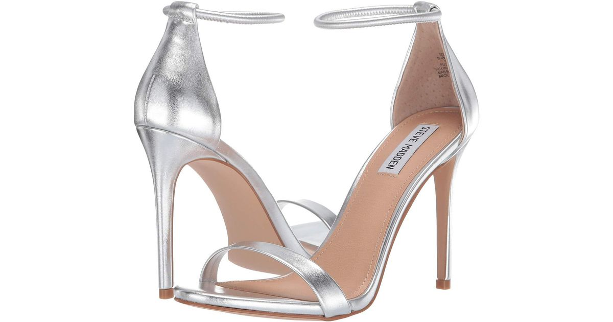 Lyst - Steve Madden Soph Heeled Sandal (silver) High Heels in Metallic