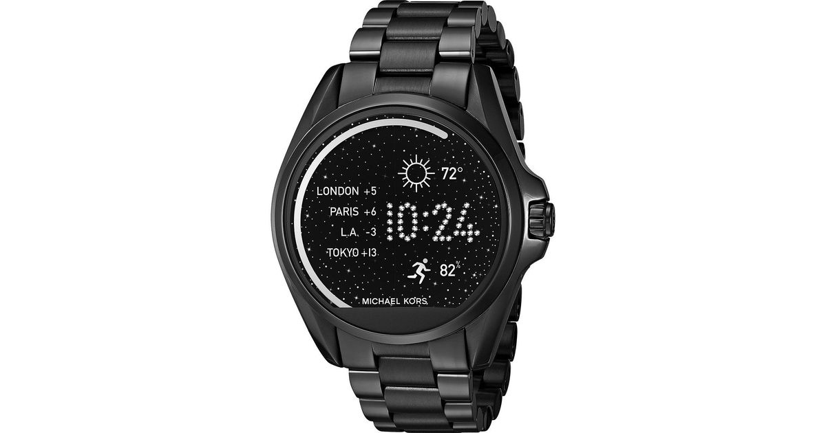 c5341bfc194a Lyst - Michael Kors Bradshaw Display Smartwatch - Mkt5005 in Black for Men