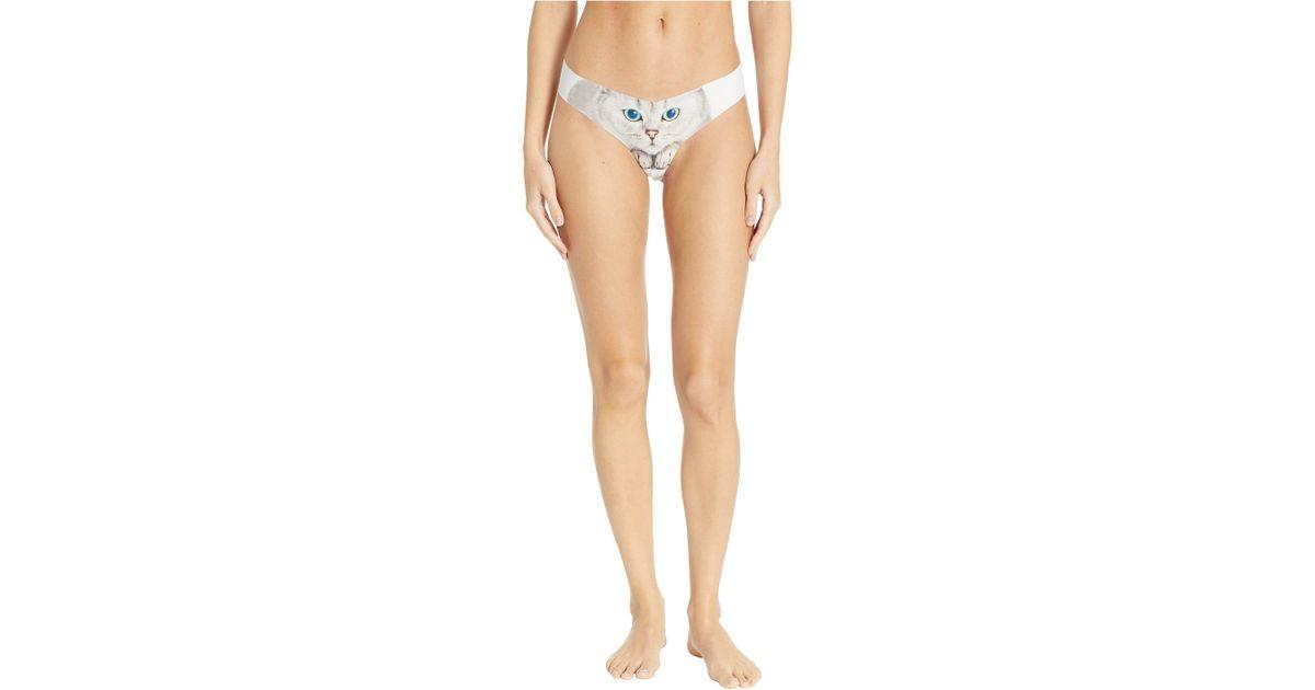 72256426241b9 Commando Print Thong Ct18 (photo-op White Tiger) Women's Underwear - Lyst