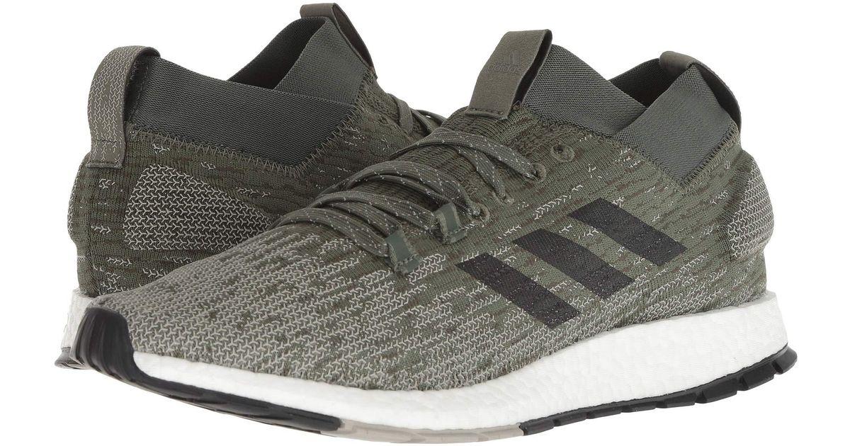 6363238d57fb Lyst - Adidas Originals Pureboost Rbl (black grey Three scarlet) Men s  Running Shoes in Black for Men