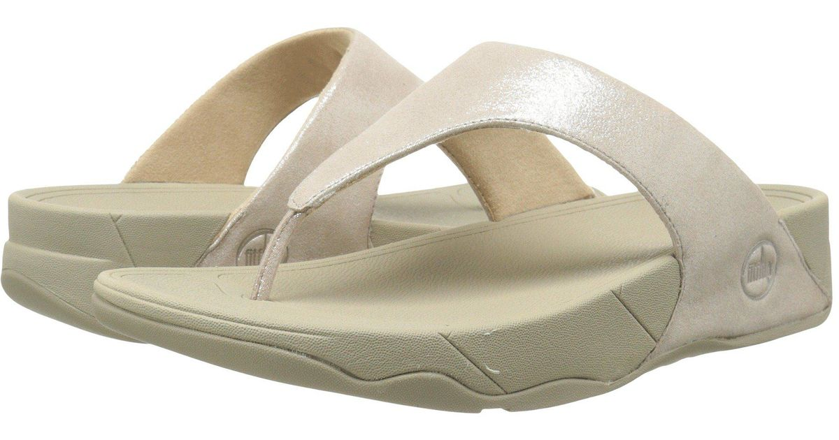 198a4d6aa092 Lyst - Fitflop Lulu Shimmersuede (black) Women s Sandals in Natural