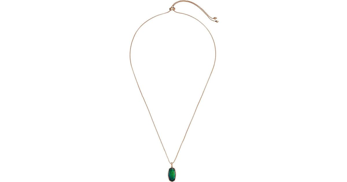 a86a687d5 Lyst - Kendra Scott Moody Necklace (rose Gold Mood Stone) Necklace in  Metallic