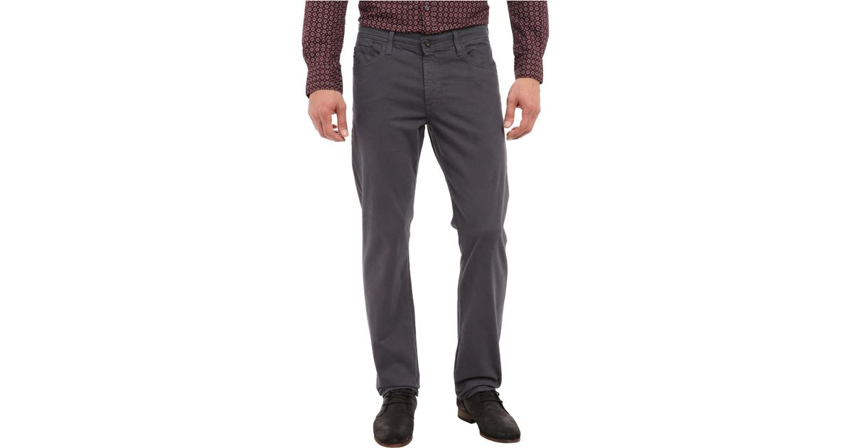 e96d8a19 AG Jeans The Graduate Tailored Straight Sueded Stretch Sateen (burch) Men's  Casual Pants in Gray for Men - Lyst