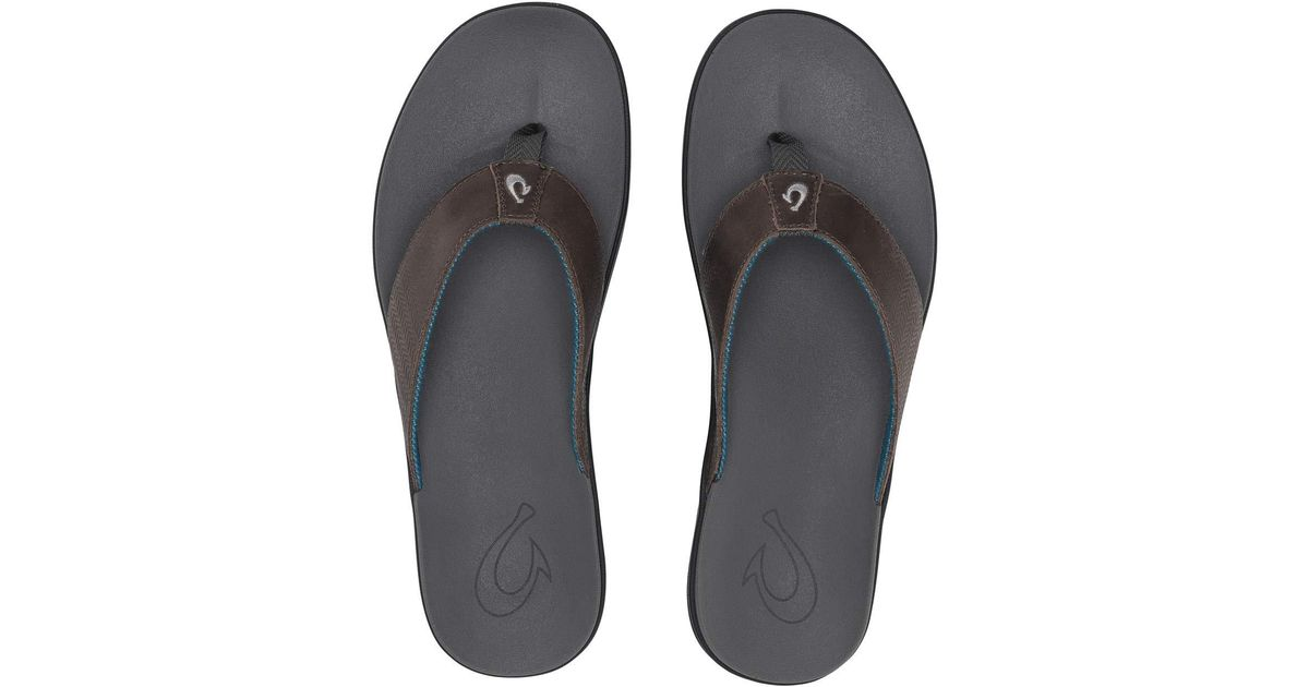 8f9d35a8f85c Lyst - Olukai Alania (charcoal charcoal) Men s Sandals in Gray for Men