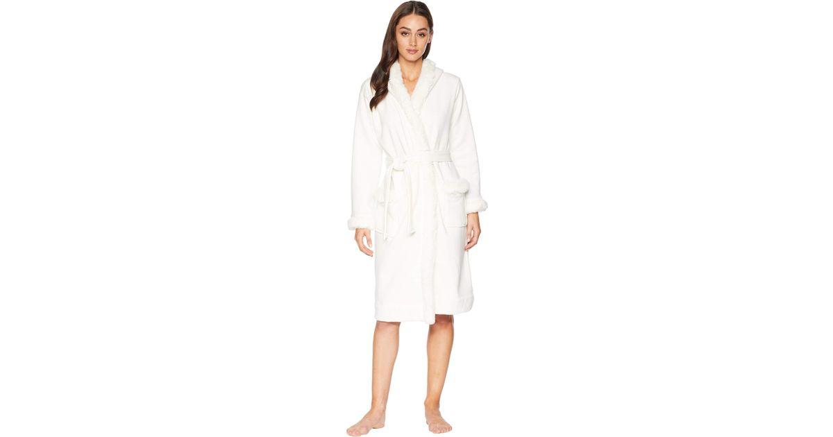 Lyst - UGG Duffield Deluxe Ii Robe (black) Women s Robe in White f34686e5f