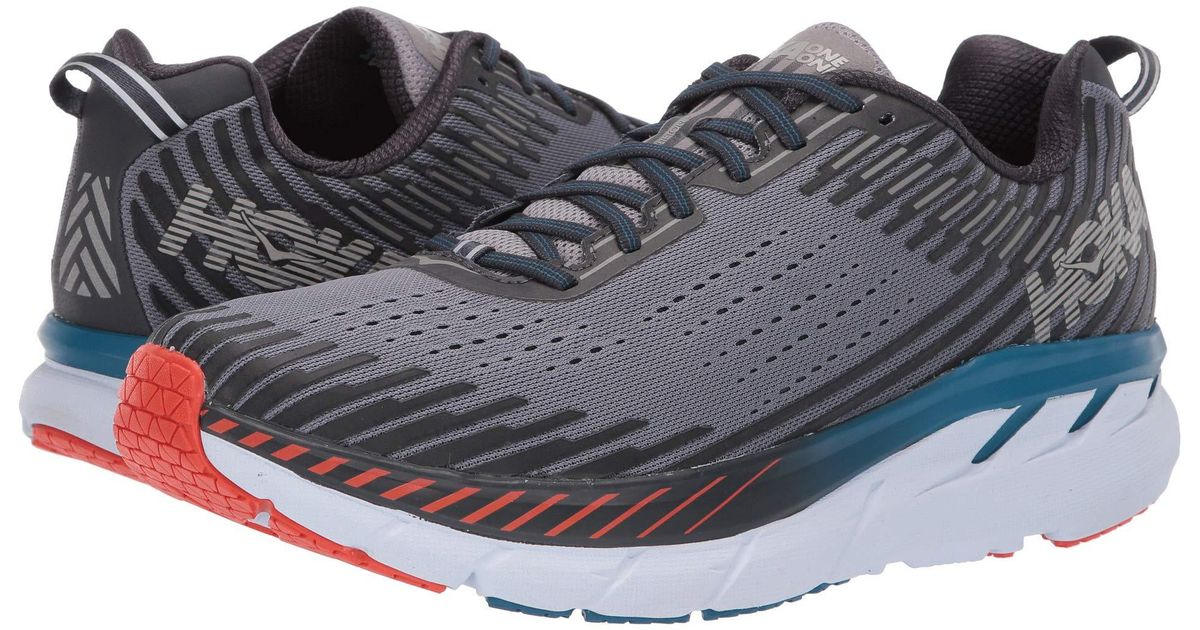 Hoka One One Blue Clifton 5 (frost Gray/ebony) Men\u0027s Running Shoes for men