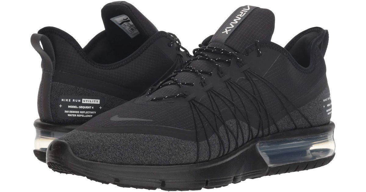 bdb123b75a1 Lyst - Nike Air Max Sequent 4 Shield (black metallic Silver dark Grey) Men s  Running Shoes in Black for Men