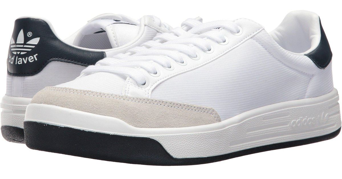Lyst - Adidas Originals Rod Laver Super (footwear White footwear  White collegiate Navy) Men s Tennis Shoes in White for Men 3aed4f0f2