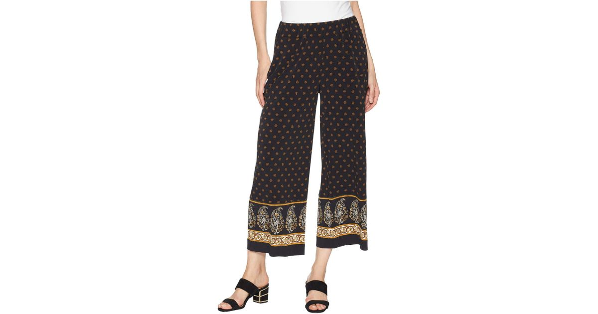 3ce75e9449 Lyst - MICHAEL Michael Kors Paisley Garden Border Pants in Black - Save 61%