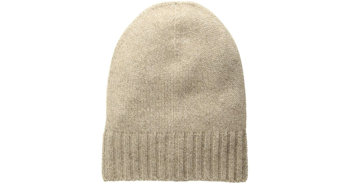 8f71afc1ed6a0 Lyst - Hat Attack Cashmere Slouchy cuff Hat (ivory) Knit Hats in Natural