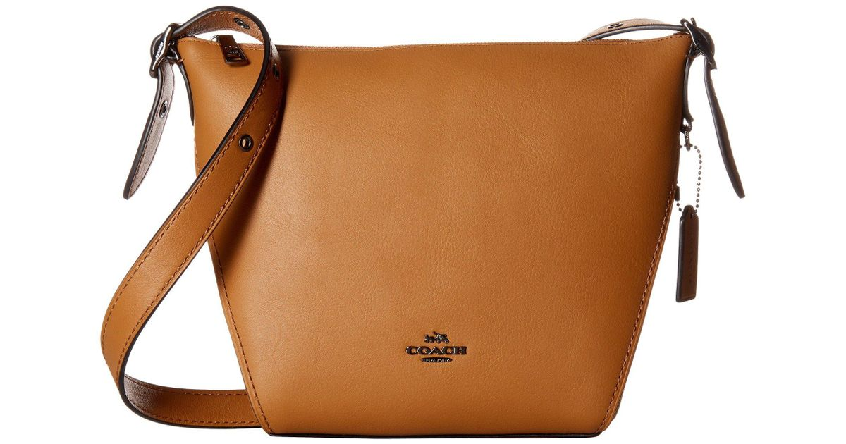 02cfaad10ddc Lyst - COACH Small Dufflette In Natural Calf Leather (dk oxblood) Handbags  in Brown