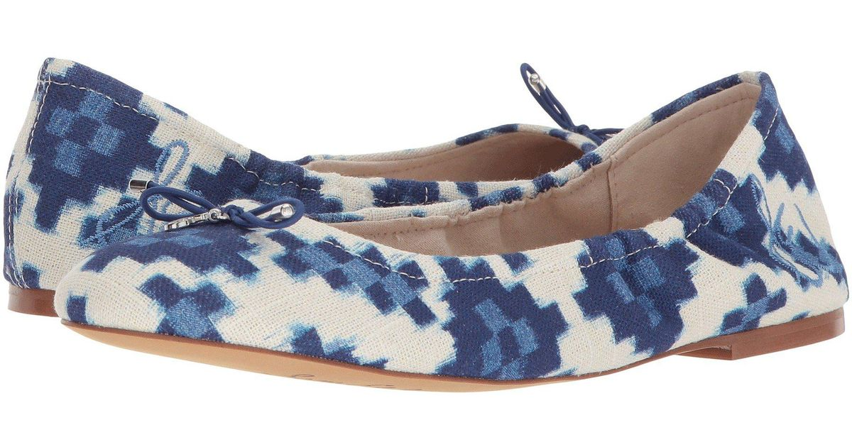 4e720c7023362a Lyst - Sam Edelman Felicia 3 Floral-embroidered Fabric Flats in Blue