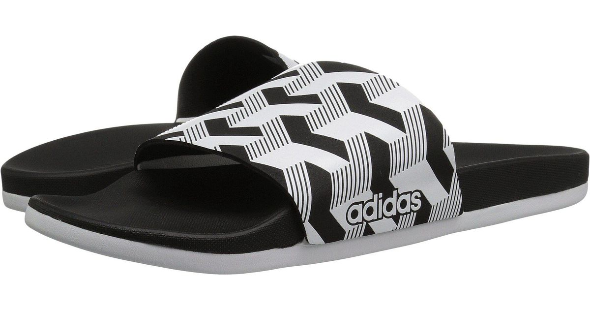 14c6c8d6db9 Lyst - adidas Adilette Cf+ Link Gr (black white black) Men s Slide Shoes in  Black for Men