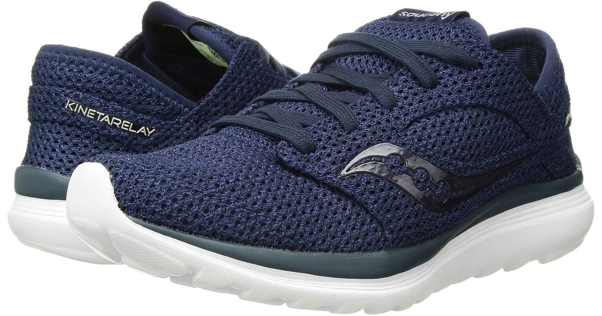 6bd8f9192be6 Lyst - Saucony Kineta Relay (heather black) Men s Running Shoes in Blue for  Men