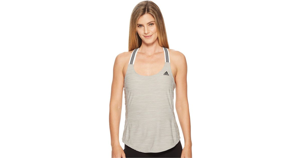 f1e64ea7f0480 Lyst - adidas Performer Cross-back Tank Top in Gray - Save 35%