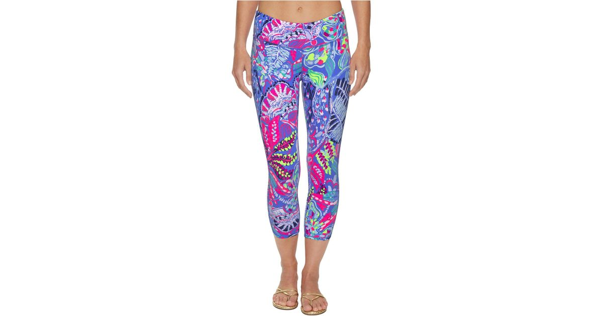4ef4d200722ff Lilly Pulitzer Upf 50+ Luxletic Weekender Cropped Pant (multi Fantasy  Garden) Women's Casual Pants - Lyst