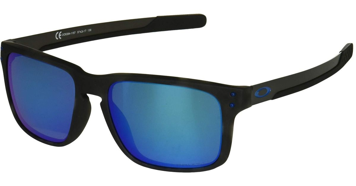 72f7abf0a3 Lyst - Oakley Holbrook Mix (matte Black Tortoise prizm Sapphire Polarized)  Sport Sunglasses in Black for Men