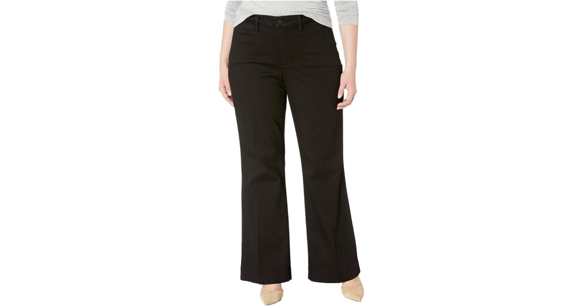 0b65d146c291c Lyst - NYDJ Plus Size Teresa Trousers In Black (black) Women s Jeans in  Black