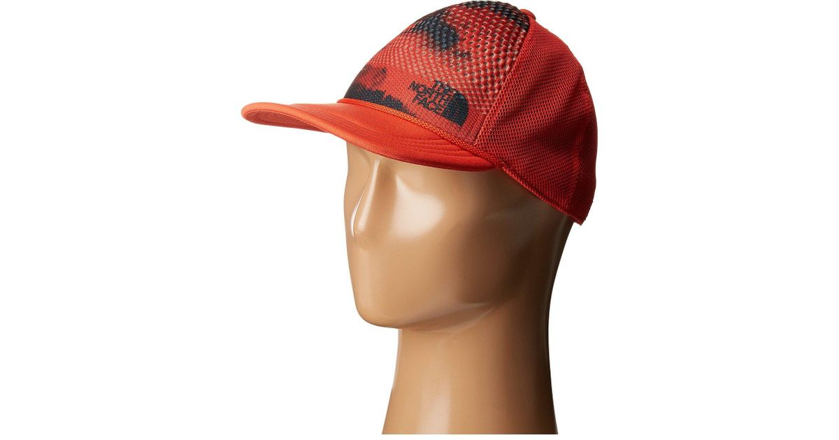 Lyst - The North Face Trail Trucker Hat (fire Brick Red Multi (prior  Season)) Caps in Red for Men 4d725de3d51