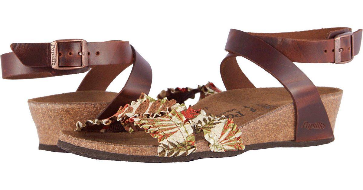 3fcf86d507e Lyst - Birkenstock Lola (flower Frill Black Textile leather) Women s  Sandals in Brown