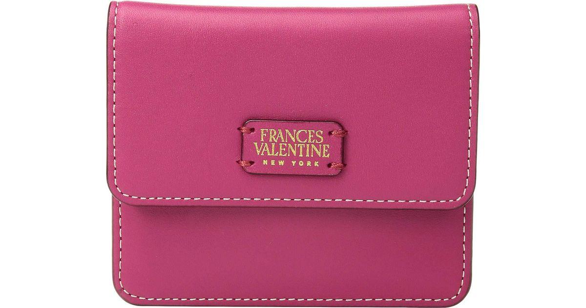 12c8bcbf66 Lyst - Frances Valentine Coin Purse/credit Card Wallet (pink/red) Wallet  Handbags in Pink