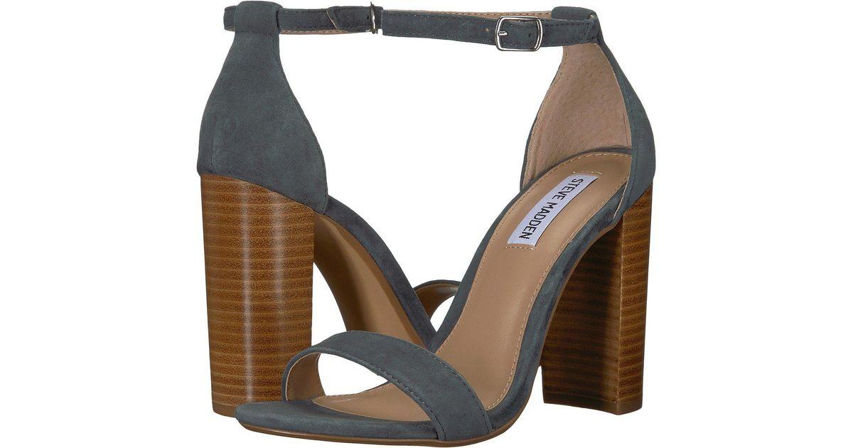 7ca8e576327 Lyst - Steve Madden Carrson Heeled Sandal (black Suede) High Heels in Blue