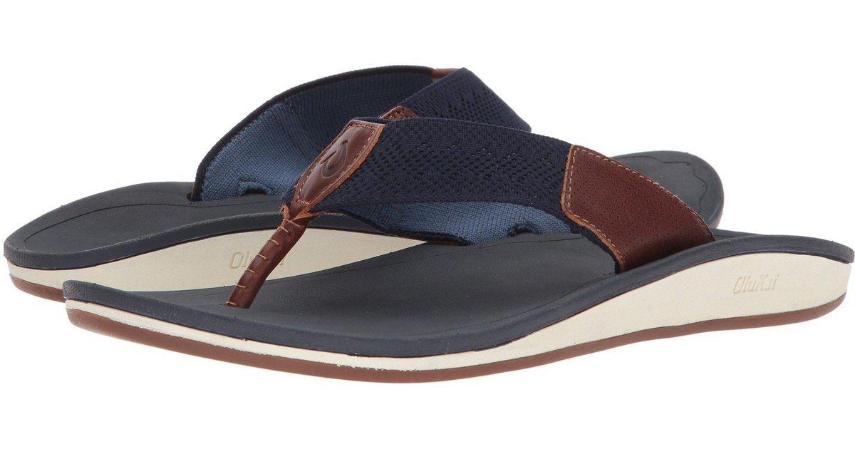 f36ca05e6ad7 Lyst - Olukai Nohona Ulana (dark Wood dark Wood) Men s Sandals in Blue for  Men - Save 1%