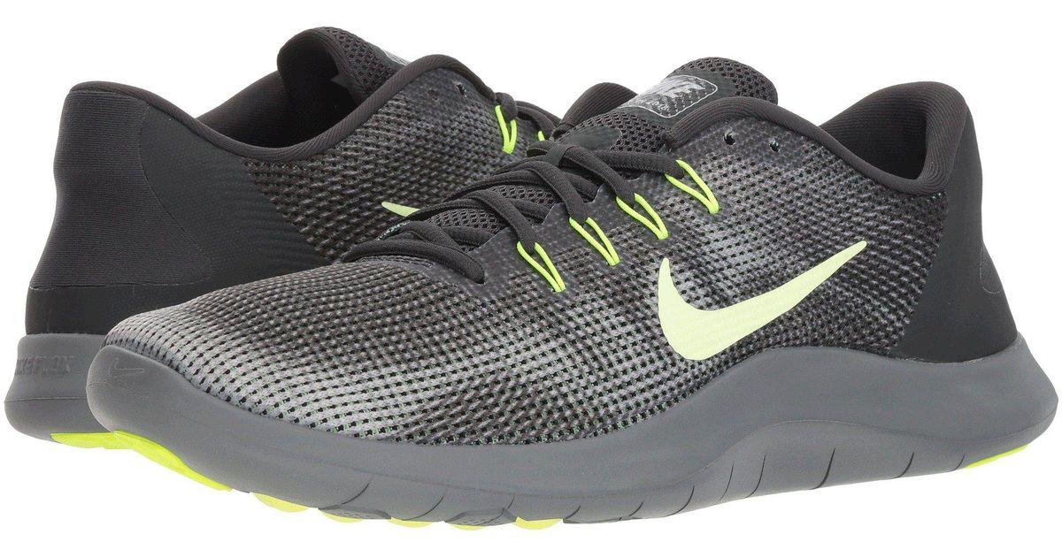 bba65ec54fa0 Lyst Nike Flex Rn 2018 Black White Men S Running Shoes In Gray