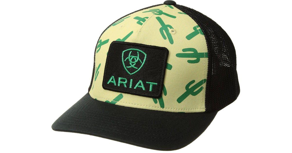 Lyst - Ariat Multi Cactus Snapback Cap (black) Caps in Black for Men 35c6355b5af6