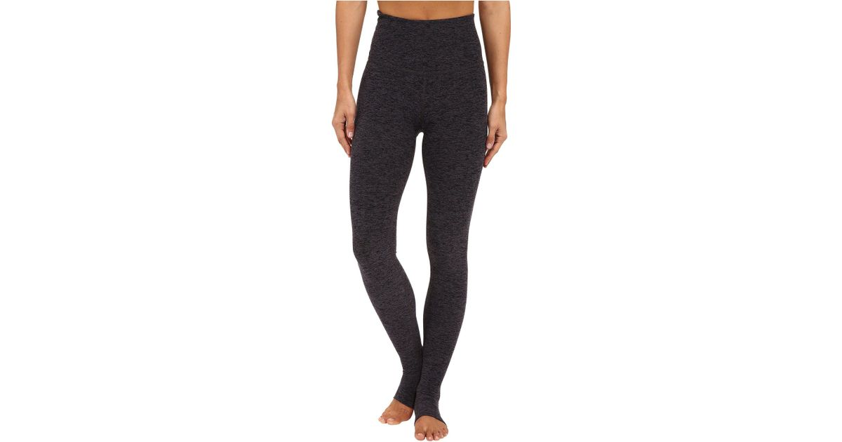 fdee75993274ae Beyond Yoga High Waist Stirrup Leggings (black/charcoal Spacedye) Women's  Casual Pants in Black - Lyst