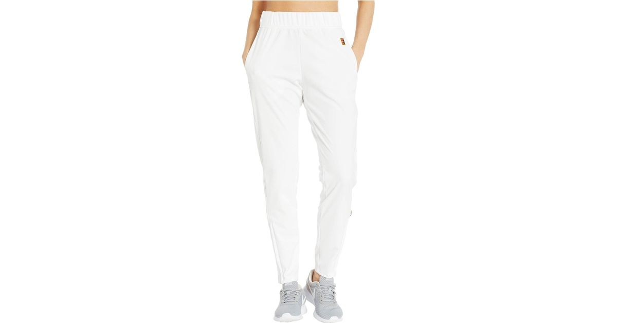 b386be5ec9 Nike Court Warm Up Pants (white/white/white) Women's Casual Pants in White  - Lyst