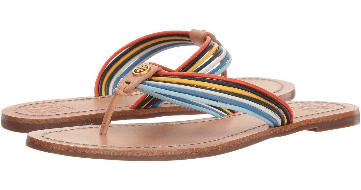 ca5db60be867 Lyst - Tory Burch Sienna Thong Sandal (multi natural Vachetta) Women s  Sandals