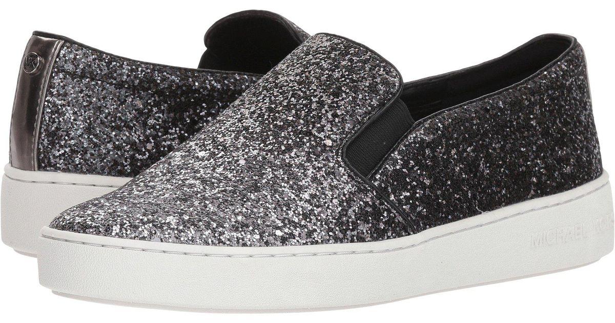 cbca23bb6fd44 Lyst - MICHAEL Michael Kors Keaton Slip-on (black Mini Mk Logo Coated Canvas  suprema Nappa Sport) Women s Slip On Shoes