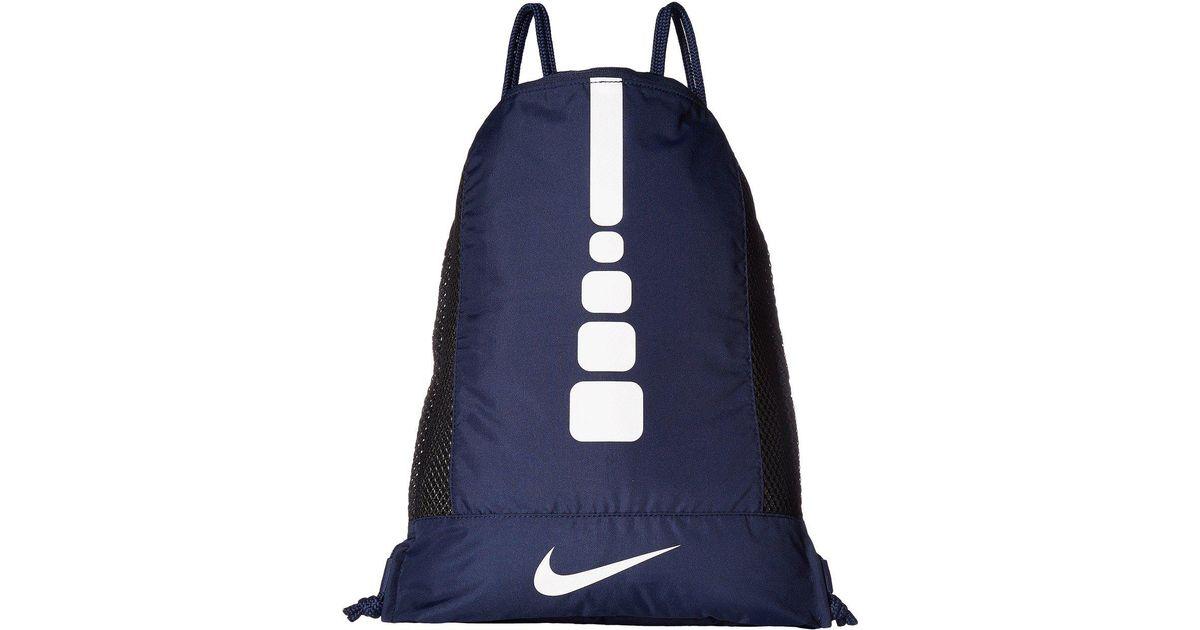 Lyst - Nike Hoops Elite Gym Sack (black black white) Bags in Blue for Men 7cdc483da8f60