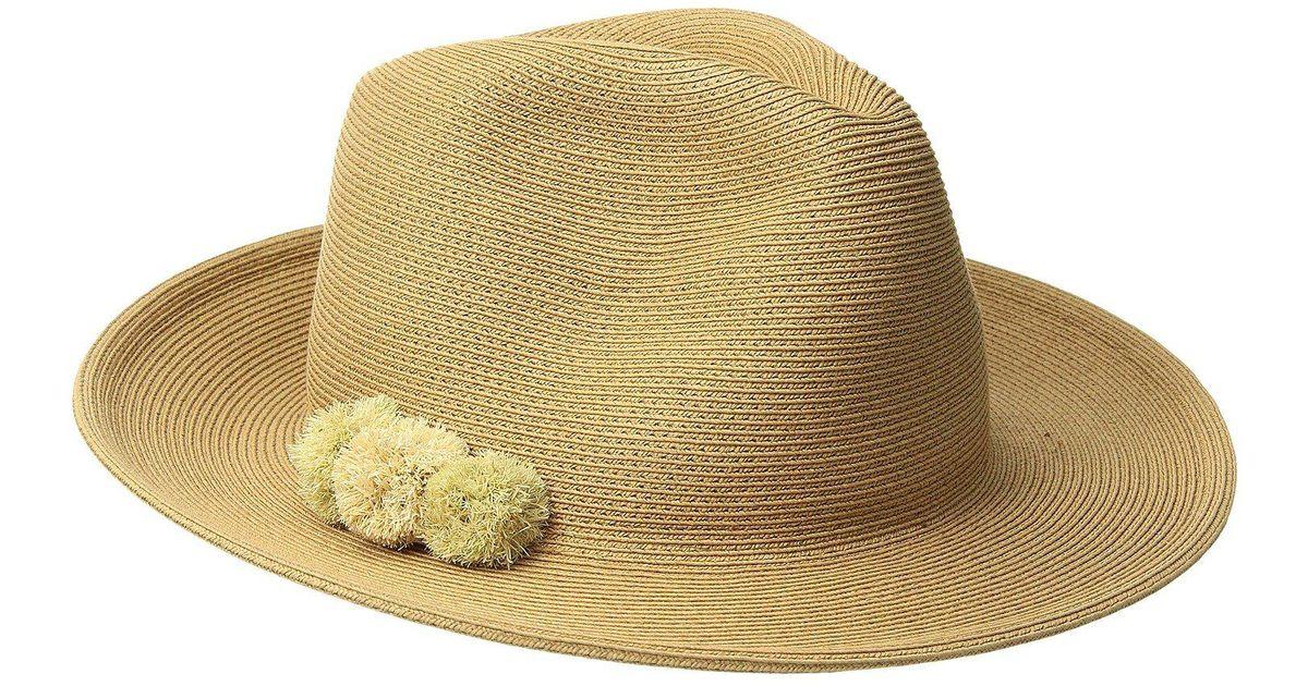 abc8368b6 Hat Attack - Natural Fine Braid Fedora (toast/neutral) Fedora Hats - Lyst