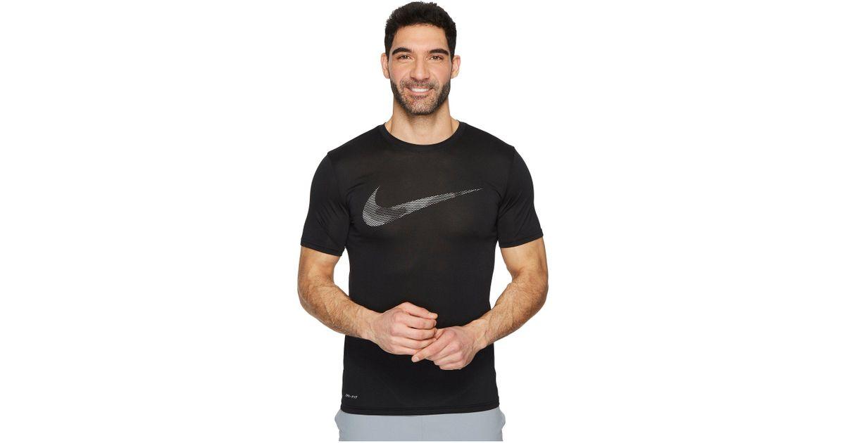 42cbf14dd2d99 Nike Dry Legend Camo Fill Training T-shirt (black) Men's Clothing in Black  for Men - Lyst