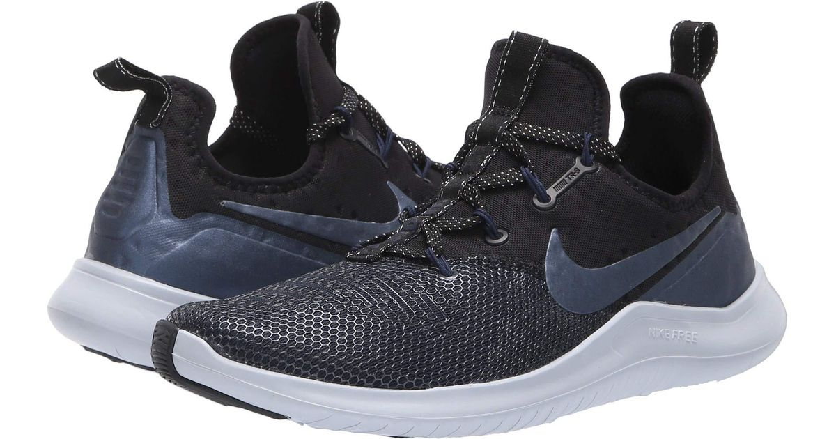 60d43c39ce890 Lyst - Nike Free Tr 8 Metallic (black metallic Armory Navy college Navy) Women s  Cross Training Shoes in Blue