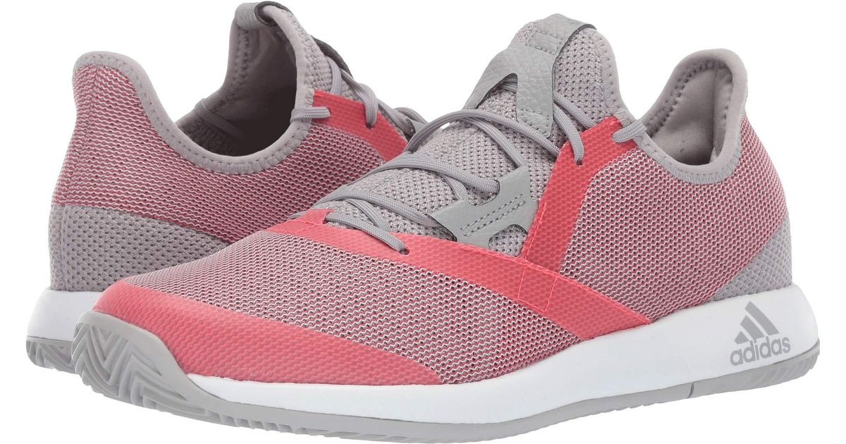 acbeece7f839f Lyst - adidas Adizero Defiant Bounce (light Granite shock Red footwear White)  Women s Tennis Shoes in Red