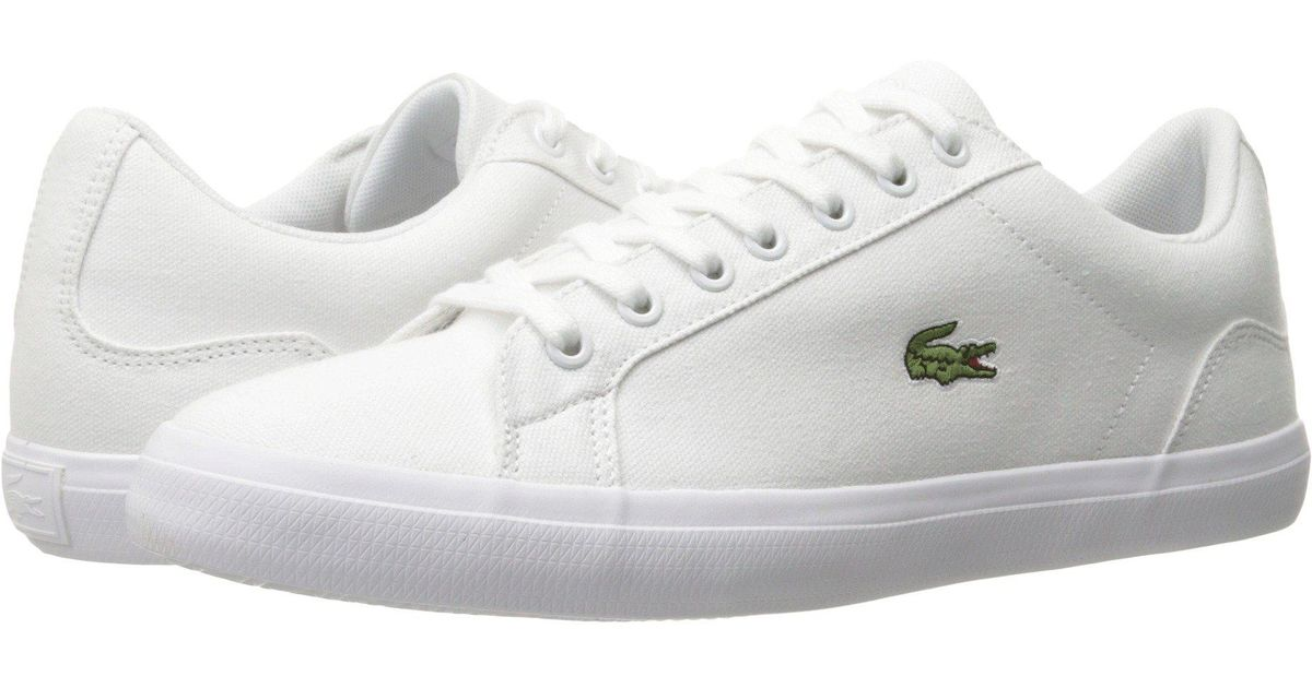 8b84f1b8f Lyst - Lacoste Lerond Bl 2 (white) Men s Shoes in White for Men - Save 4%