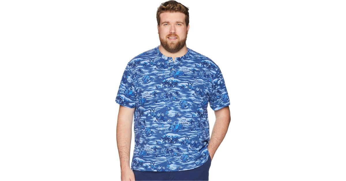 ab62f0296 Polo Ralph Lauren Big & Tall Featherweight Mesh Henley in Blue for Men -  Lyst