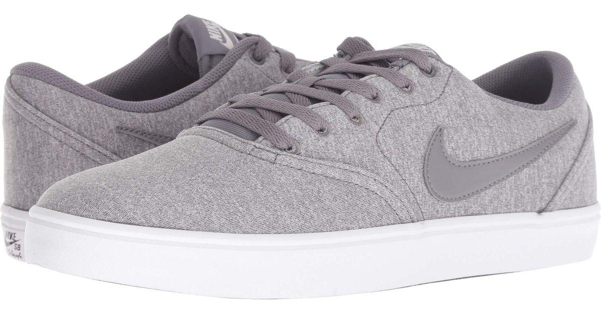 1a7bce80ea188 Lyst - Nike Check Solar Canvas Premium (black black white) Men s Skate Shoes  in Gray for Men