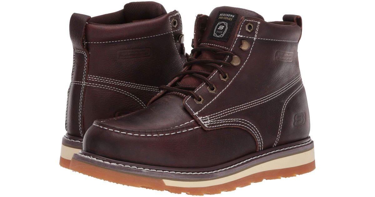 6d661665c9 Lyst - Skechers Work Boydton (red brown) Men s Work Boots in Brown for Men