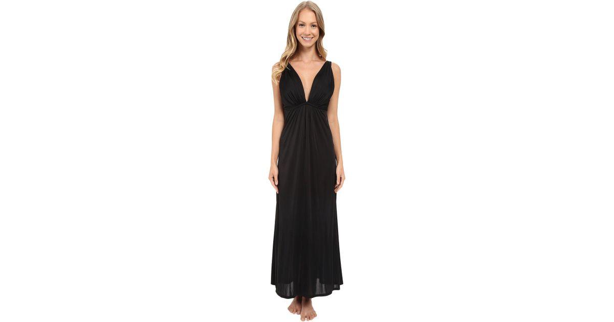 Lyst - Natori Aphrodite Tank Gown in Black
