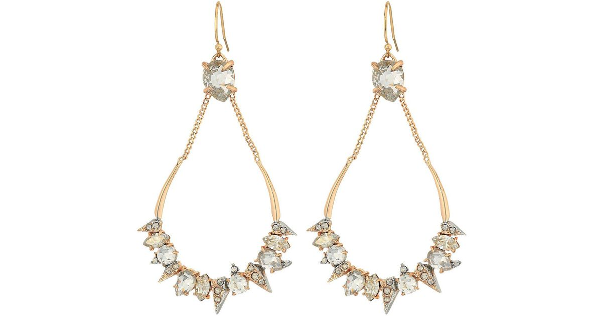 Alexis Bittar Crystal-Encrusted Mosaic Futuristic Earrings pAtOBtc9
