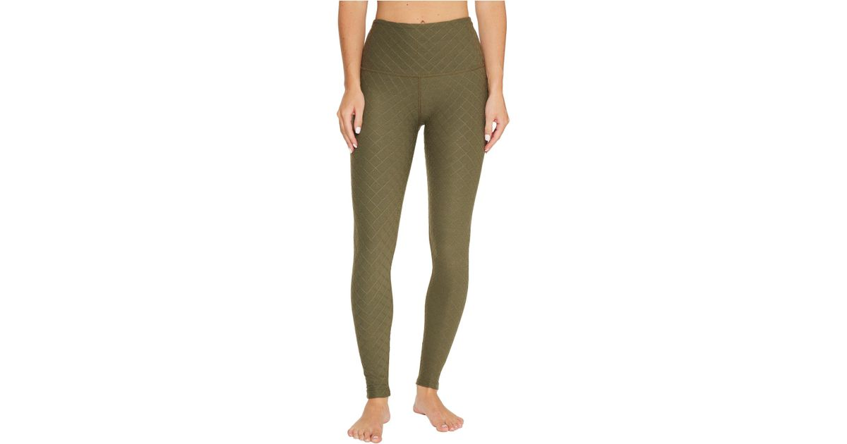 4583dc50b9 Beyond Yoga Can't Quilt You High Waisted Leggings in Green - Lyst