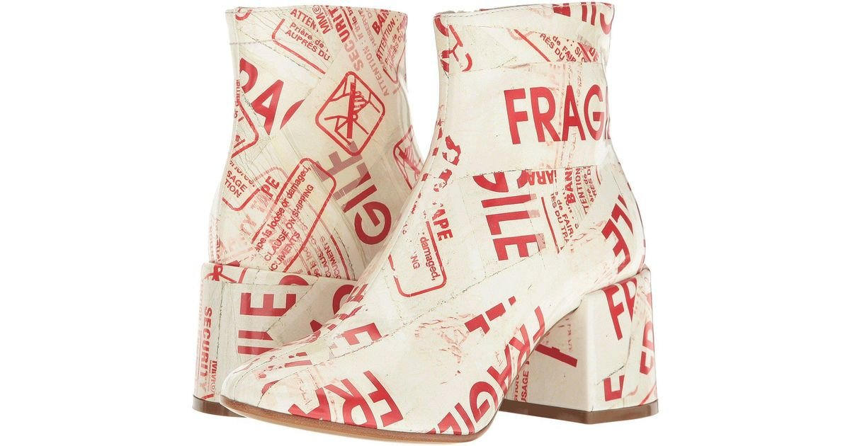 MM6 Maison Margiela Fragile Scribble Boot