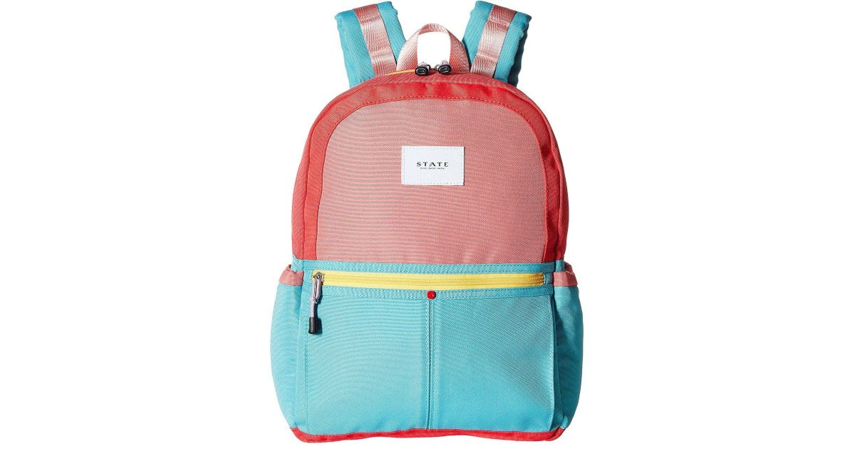 ddaaa44d38 Lyst - State Bags Color Block Kane Backpack (pink mint) Backpack Bags in  Pink
