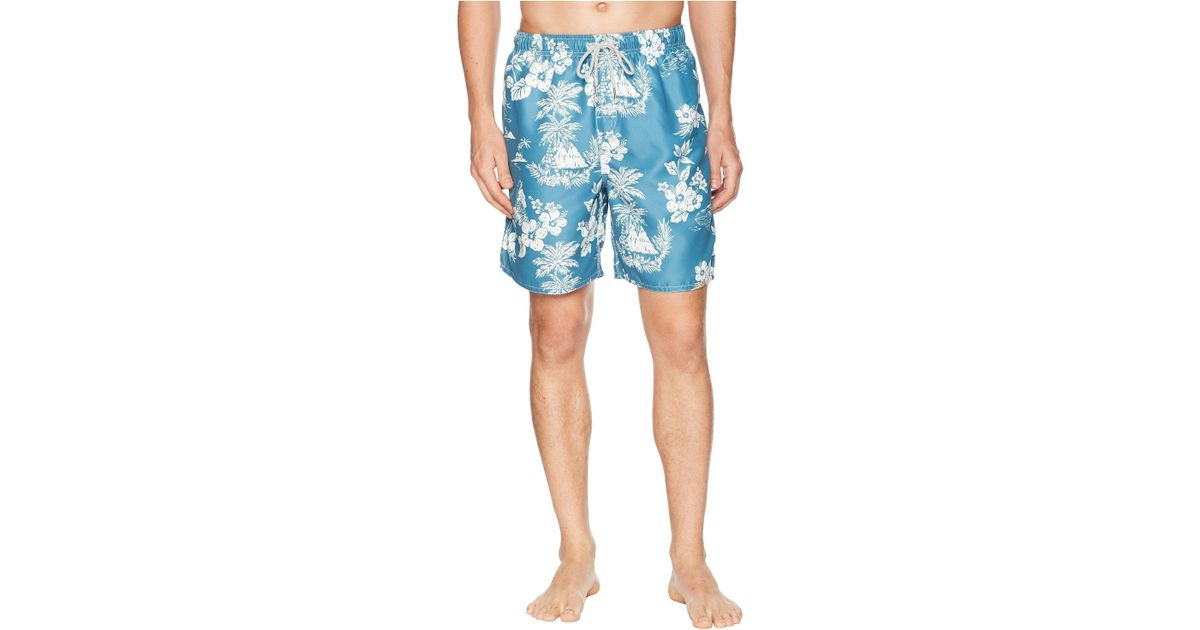 814b99a4f1 Lyst - True Grit Waterman Outrigger Drawstring Swim Boardshorts W/ Mesh  Lining in Blue for Men - Save 58%