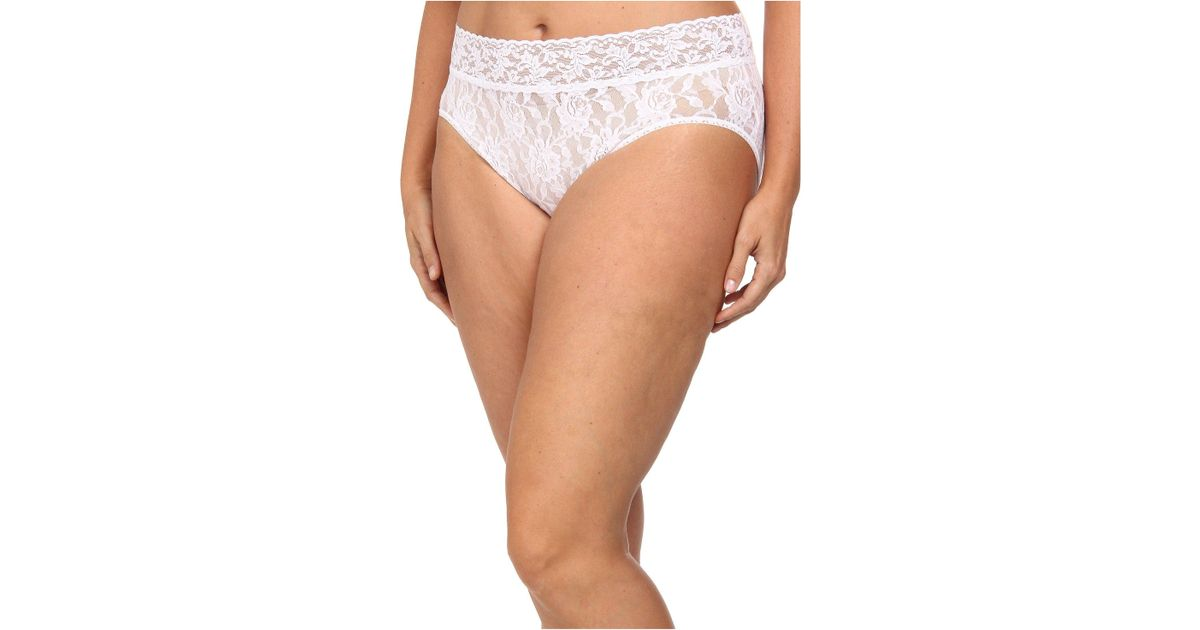 3dea6bb1480 Hanky Panky Plus Size Signature Lace French Brief in White - Lyst